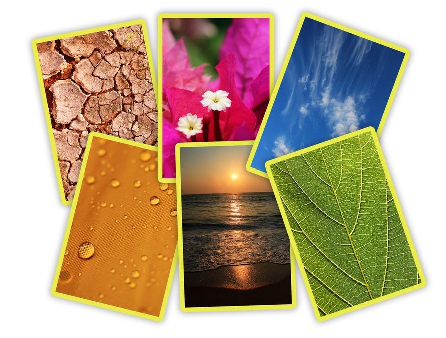 Photos of basic elements of nature and ecology